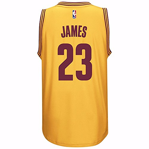 LeBron James Herren Gold Cleveland Cavaliers Adidas Swingman Trikot L
