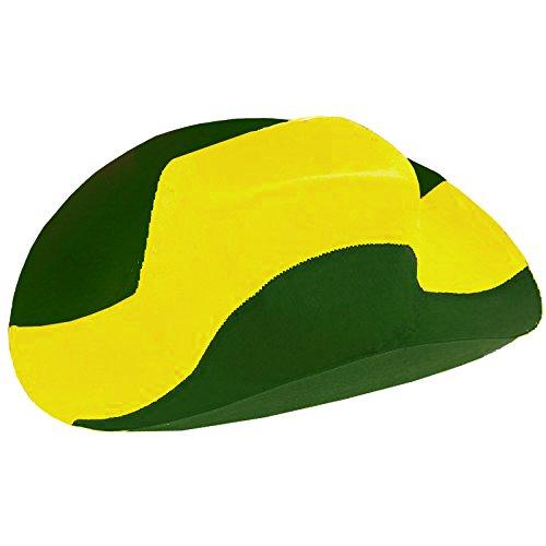 Brubaker Cowboyhut in den Nationalfarben Brasiliens - Grün Gelb