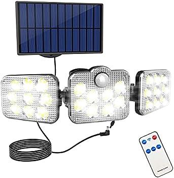 Noooza 138 LED Waterproof Solar Security Lights
