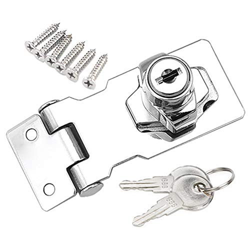 YUOIP® lade kast sloten hangslot Hasp slot voor meubels brievenbus lade kast (2,5 inch) (zelfde sleutel)