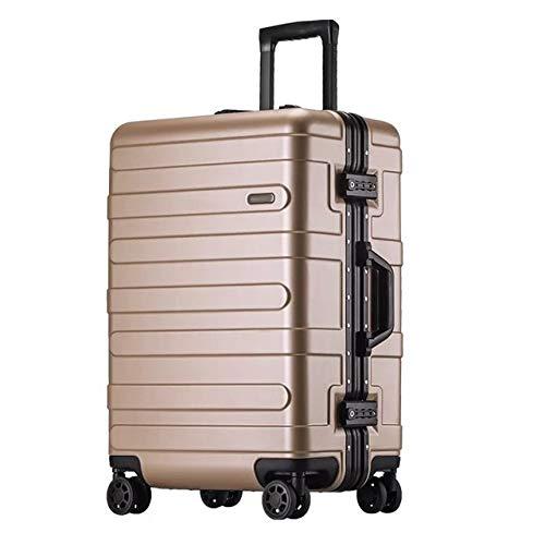 Mdsfe Maleta rígida con Marco de Aluminio de 20'24' 29'Pulgadas con Ruedas abs Spinner Cabina Trolley Equipaje para Viajar - Dorado, 29'