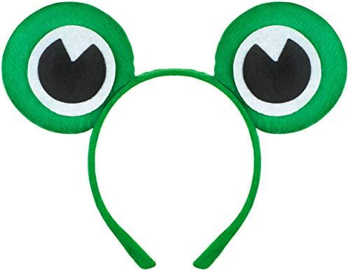 Balinco Frosch Haarreif | Haarreifen | Froschaugen | Crazy Frog Headband als Accessoire für das das perfekte Kostüm als Frosch für Erwachsene & Kinder