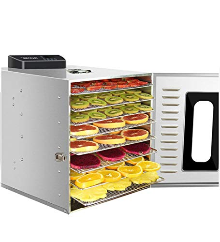 Find Bargain 8 Dehydrator Machine 360W, Infinitely Variable Temperature of 30-90 ° C, 15H Timer, Di...