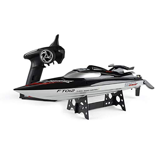 EAPTS Feilun FT012 2.4G RC Boat 45km/h High Speed Racing Boat Speedboat Ship with Brushless Motor Water Cooling System Flipped RTR