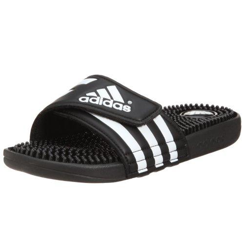 adidas ADISSAGE Zapatos de playa y piscina Mujer, Negro (Blackblackrunning White Footwear 0), 37 EU (4 UK)