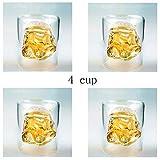 ZZT Whisky Creativo de la Taza de Cristal Star Wars cocinar Vasos Conjunto 4X 150 ml Negro y Negro Samurai Stein Taza Transparente Whisky Diario Copa Doble Doble Pared