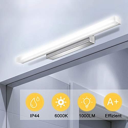 Kohree Led Spiegelleuchte Badezimmer 50cm 6000K 12W 1000LM Bad LED Spiegellampe Badlampe Badleuchte Wandbeleuchtung Wandleuchte Led Schminklicht für Spiegelschrank, IP44 Wasserdichte Neutralweiß 220V