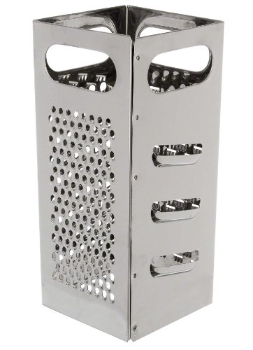 """Update International (GR-449) 4"""" x 4"""" x 9"""" Stainless Steel Box-Type Cheese Grater"""