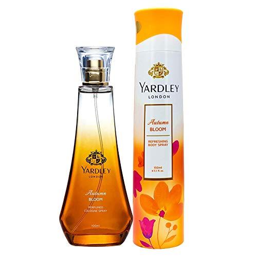 Yardley London Autumn Bloom Daily Wear Perfume for Women, 100ml + Yardley London Autumn Bloom Refreshing Deo for Women, 150ml