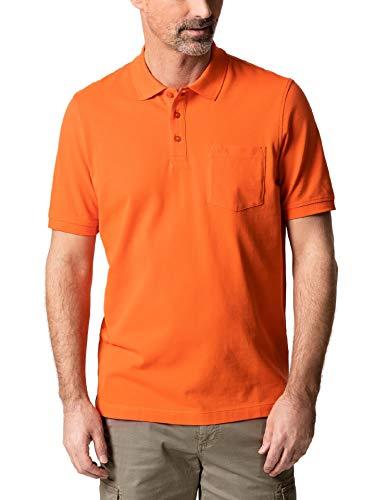 Walbusch Herren Pique Polo Pima Cotton einfarbig Orange 50