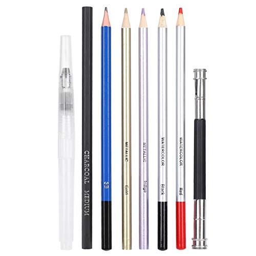 Juego de lápices de colores, juego de lápices de colores profesional para adultos, dibujo en acuarela, bocetos, accesorios de papelería