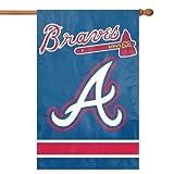 Party Animal Atlanta Braves 28x44 Premium Embroidered Applique Banner Outdoor Flag Baseball