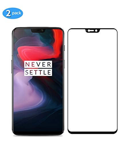 yueer [2-pack] voor OnePlus 6/A6000/A6003 Scherm beschermer, Screenprotector van gehard glas-[Ultra Thin] [High Definition][Bubble-Free] [Easy Installation] [Anti Scratch].