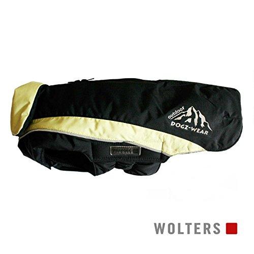 Wolters | Skijacke Dogz Wear wasserdichtem RV schwarz/lime | Rückenlänge 28 cm