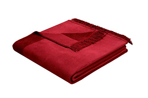 Biederlack Wohn- und Kuscheldecke, 60 % Baumwolle, Mit Fransen, 150 x 200 cm, Rot, Orion Cotton Plus Rosso, 629494