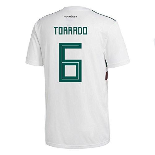 adidas dorticós # 6Mexiko Away Herren Fußball Trikot World Cup Russland 2018, Herren, White/Collegiate Green/Collegiate Burgundy, X-Large
