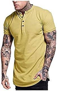 Wanxiaoyyyinnsdx Mens Henley Short Sleeve, Men's Fashion Clothing Summer Tops Short Sleeve V-neck Shirt T Shirt Men Casual...