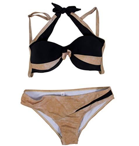 2018 Women Sexy Bikini Set Push-up Padded Bra Swimsuit Floral Print Swimwear Bandage Bathing Suit Low waist Backless Beachwear