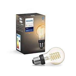 Philips Hue A60 E27, Lampadina a LED intelligente, Dimmerabile, Funziona con Alexa e Google Assistant, 550 Lm e 7 W, 1 Pezzo