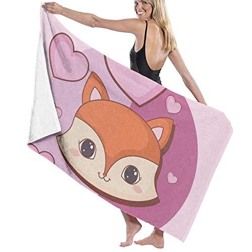 Toalla de baño de animales Kawaii de secado rápido, suave, toalla de ducha de playa, 130 x 80 cm