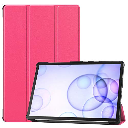 MeterMall voor Sumsung S6 TAB S6 10.5Inch T860 Fall Resistant 3Folding Smart Stay Laptop Beschermhoes Roze TAB S6 2019 T860