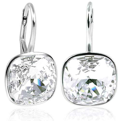 NOBEL SCHMUCK Ohrringe Silber Crystal mit Kristallen von Swarovski® 925 Sterling