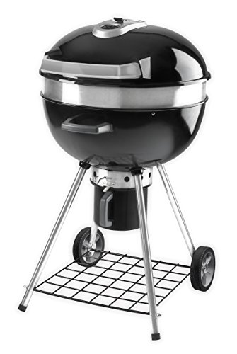 Napoleon Charcoal Kettle Barbecue Diameter 57 cm with Cast Iron Grate and Hinged Lid