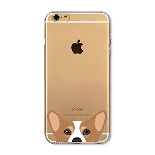 deco fairy iphone 6 case rubbers DECO FAIRY Compatible With iPhone 6 / 6s, Japanese Pembroke Welsh Corgi Dogs Cats Cute Pet Pug Puppy Series Transparent Translucent Flexible Silicone Cover Case
