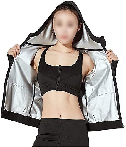 MFFACAI Mujeres Sweat Sauna Suit Workout Shirt Training Body Shaper Cremallera Slim Fitness Jacket Gym Top Fajas De Manga Larga Ropa Deportiva (Size : XL)