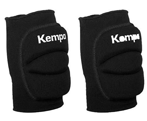 Kempa Handball & Volleyball Knieschoner Indoor Protektor gepolstert (Paar) schwarz (M = Knieumfang 34-38 cm)