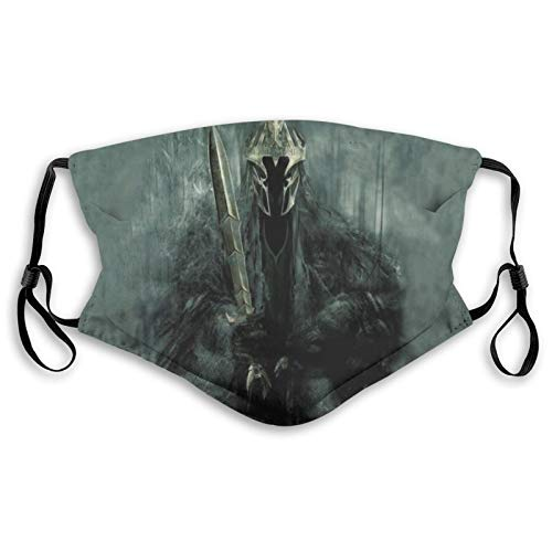 The Lord of The Ring-S Adjustable Ear Loops Unisex Washable Bandanas Reusable Dust Face Mouth Cover for Outdoor Windproof