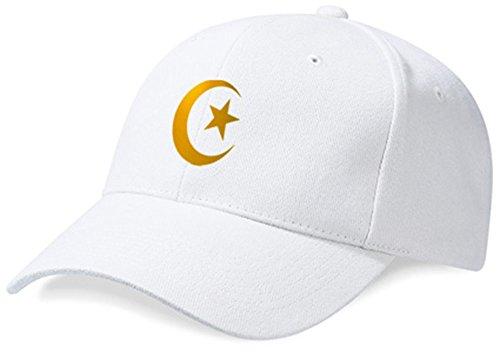 DASHOP Casquette Algérie Blanc et Or Métallisé