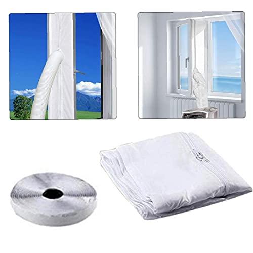 NIDONE Klimaanlage Fenstersiegel 400cm Universal Tragbare Luftaustauschwächter Mit Zip-befestigungselement-haushaltsprodukten