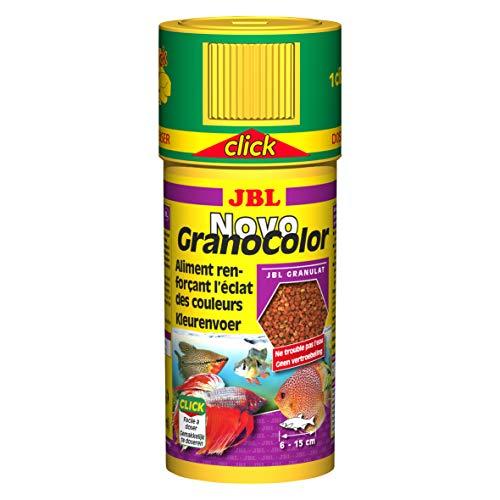 JBL Novo GranoColor - comida para acuario, apertura de clic, 250ml