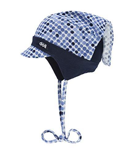 Döll Baby-Mädchen Kopftuchmütze mit Schirm zum Binden Jersey Sonnenhut, Blau (Total Eclipse|Blue 3000), 47