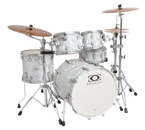Drum Craft Series 7 Progressive Ahorn Schlagzeug Set Shell Pack Liquid Chrome