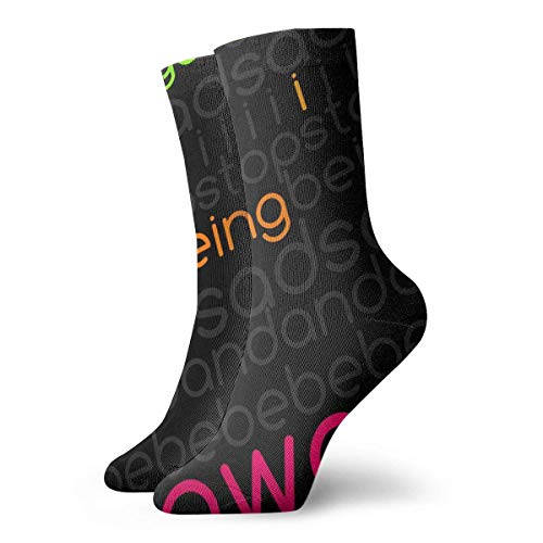 Drempad Luxury Sportsocken Colorful Funny Text Adult Short Socks Cotton Cozy Socks for Mens Womens Yoga Hiking Cycling Running Soccer Sports