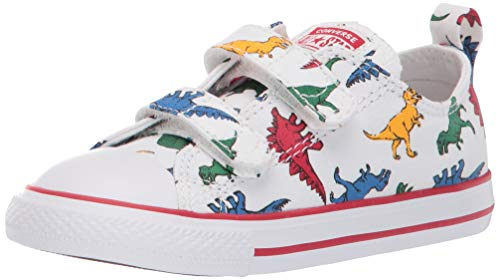 Converse Chuck Taylor All Star 2V OX 763713C Kleinkinder-Schuhe White/Enamel Red Gr. 20 (US 4)