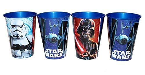 4 Stück Star Wars Trinkbecher Saftbecher Becher Set