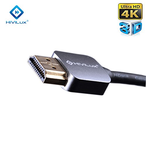 HiViLux Super Slim/Flexible HDMI Kabel 2,0 | Metal Stecker | OFC Leitung | für HDR | HDR10 | HDR 10+ | Dolby Vision | 4K/UHD | 3D | ARC | HighSpeed with Ethernet | HDMI A -> HMDI A (1,5m)