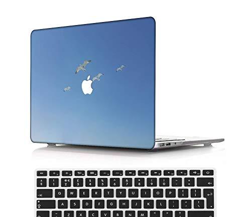 NEWCENT MacBook Pro 13' Funda,Plástico Ultra Delgado Ligero Cáscara Cubierta EU Teclado Cubierta para MacBook Pro 13 Pulgadas con Touch Bar Touch ID(Modelo:A2338 M1/A2289/A2251),Serie Azul Claro 0292