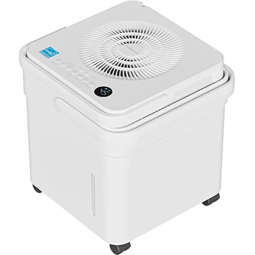 Pohl+Schmitt 4500 Sq Ft Cube Dehumidifier with Pump — 50 Pint Energy Star Portable Dehumidifier — Low Noise, Smart Humidity Control, and LED Control Panel with Lift and Twist Design