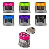 Best Manual Pencil Sharpeners - JARLINK 6 Pack Manual Pencil Sharpener, Dual Holes Review