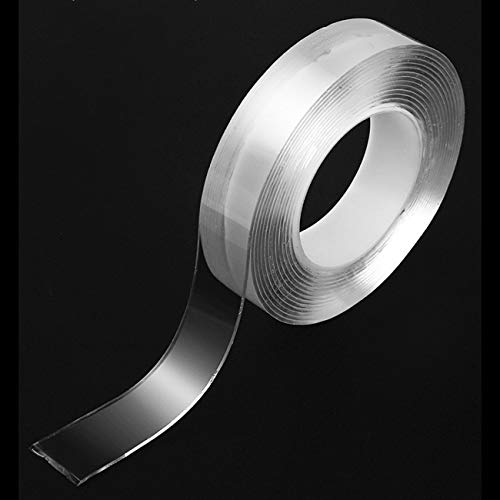 JIUY Cinta Monkey Grip Nano cinta adhesiva Traceless Cine Hogar uso diario de doble cara cinta adhesiva (transparente y 1m)