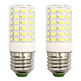 Refrigerator Light Bulb 7W LED E26 Equivalent 100W A15 Fridge Freezer Appliance Home Lighting E26 Edison Halogen, Cool White 6500K 100V-265V Super Bright Corn Lamp, Pack of 2