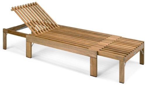 Skagerak Riviera ligbank teak houten ligstoel S1701515
