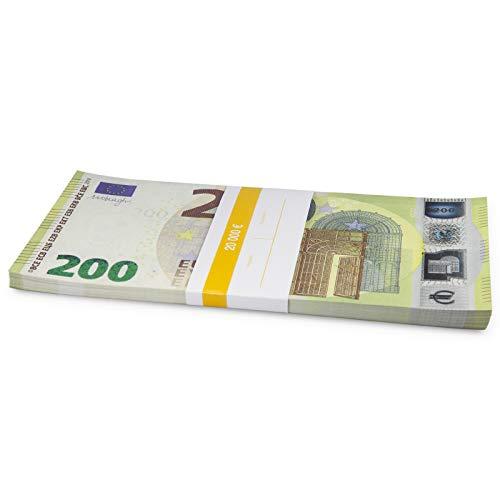 Litfax GmbH 200€ Euroschein / Euro-Geldscheine ca. 199x103 mm / banderoliert, je Pack. 75 Stück (1 PG)