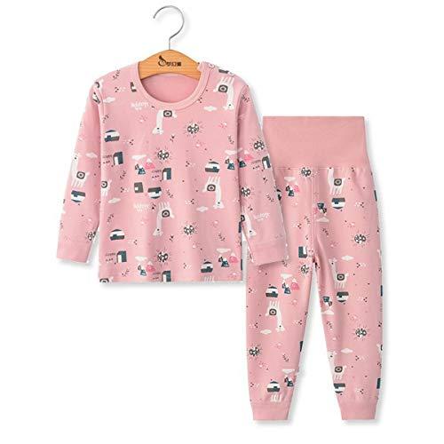 Pijamas de Manga Larga para Niños, Morbuy Pijamas Dos Piezas Bebe Niño y Niña Otoño Suave y Cómoda Ropa Algodón Ceñido Mantener Caliente Camisa + Pantalón para 1-5 años
