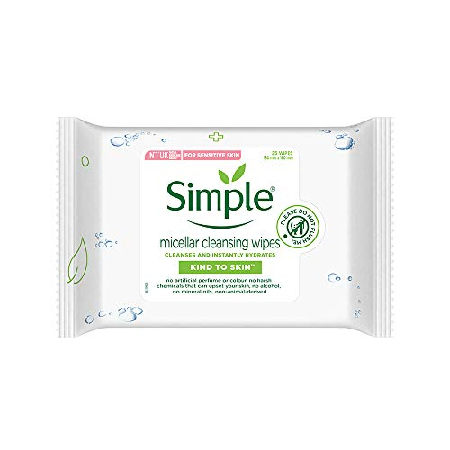Simple Kind to Skin Micellar Cleansing Wipes, Pack of 25