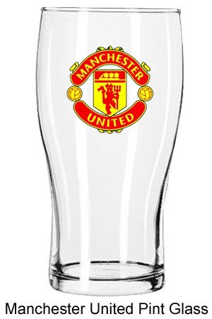 Man Utd Crest Pint Glass